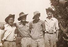 תמונה של חברי גדוד השדה