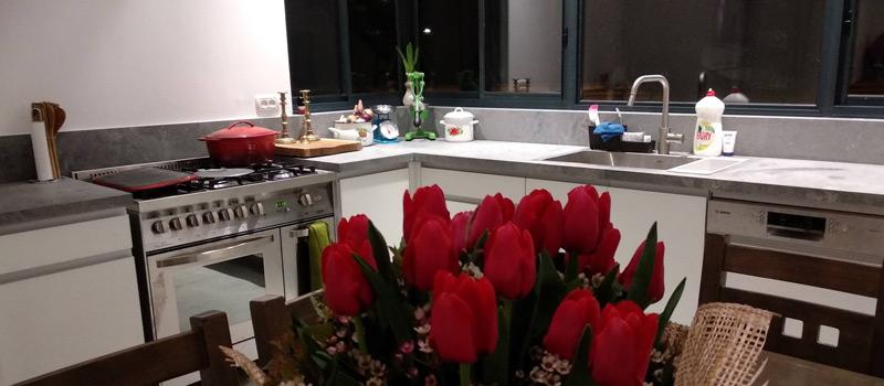 תמונה של המטבח של משפחת דרורי