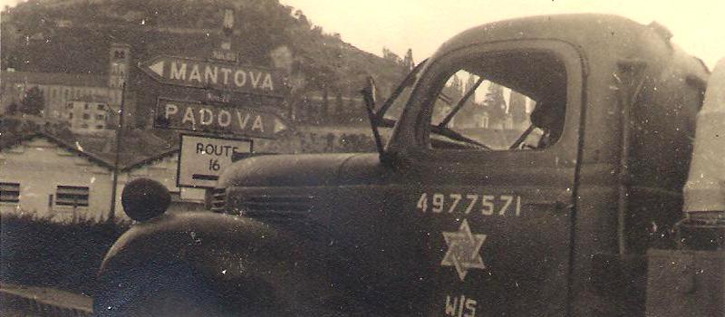 משאית של משאית של הבריגדה היהודית באיטליה