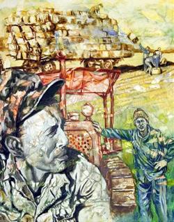 """תמונה של """"שדות שבעמק"""" - תערוכת ציורים של גיורא כהנא"""