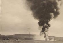 תמונה של פיצוץ בקו הנפט.
