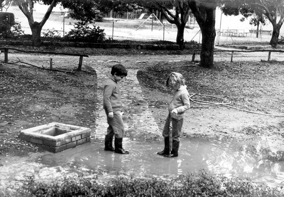 תמונה של חצר בית הילדים הישן