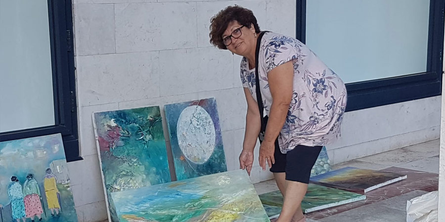 תמונה של נילי רמות מתוך התערוכה בתל אביב