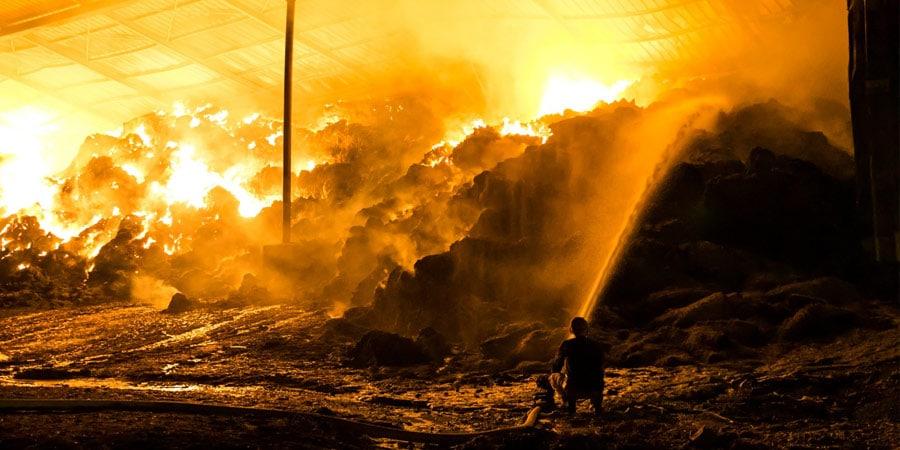 מתמונה מהשריפה במושב נהלל