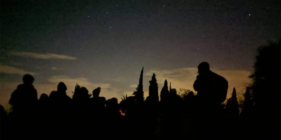 תמונה לילה במאגר בשריד