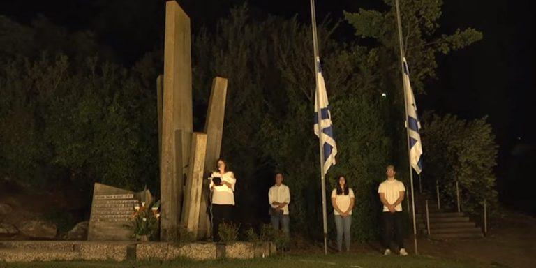 תמונה מטקס יום הזיכרון בשריד