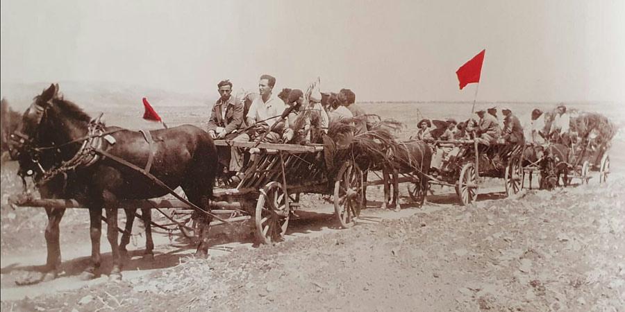 תמונה מאחד במאי בשריד תהלוכה ליד מאגר כפר ברוך