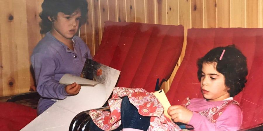 תמונת ילדות של לילך שחם ועדי פרסאי