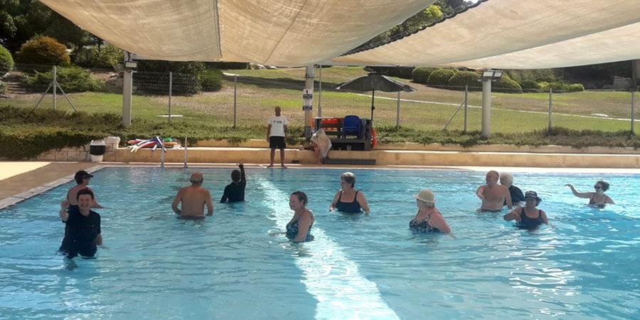 תמונה של התעמלות בבריכה בשריד קיץ 2020