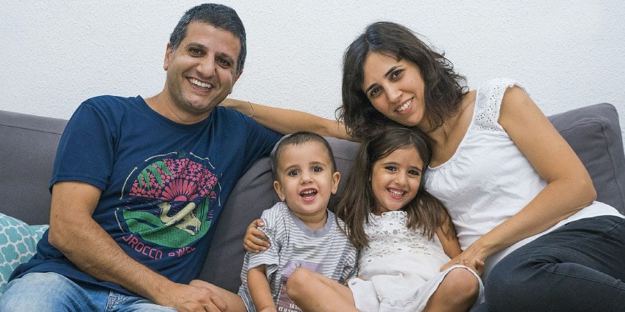 משפחת מירום חגית ארנון והילדים